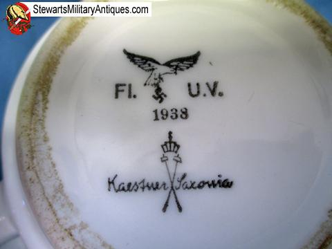 Stewarts Military Antiques - - German WWII Luftwaffe Coffee Cup and