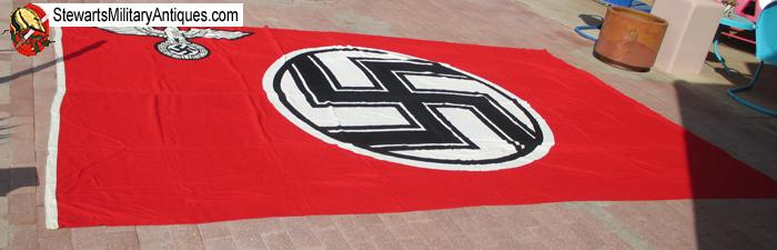 Stewarts Military Antiques - - German WWII State Service Flag, Large