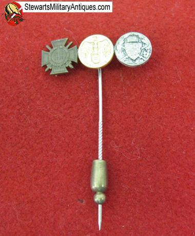 Stewarts Military Antiques - - German WWI Miniature Medals Stickpin