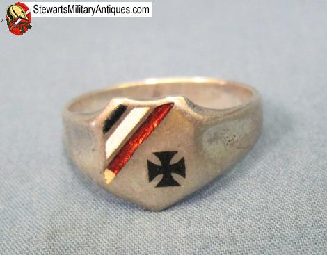WW1 silver Ring with Iron cross Antique WWI Trench Art Patriotic ring Certificate upon request First World War ring Iron cross ring