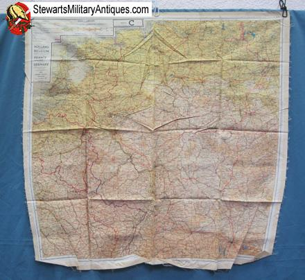 Map Of France Holland And Germany.Stewarts Military Antiques Wwii Silk Escape Map Holland