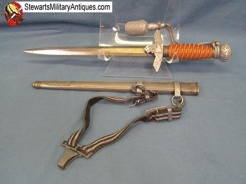 Stewarts Military Antiques - - German WWII Luftwaffe Dagger, Hangers
