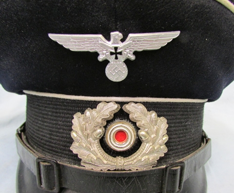 b7bfba490f0 Stewarts Military Antiques - - German WWII Veterans Visor Hat ...