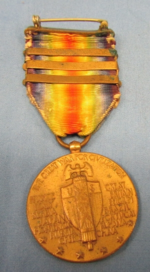 Stewarts Military Antiques - - US, WWI Victory Medal, 3 Campaign