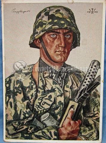 Stewarts Military Antiques German Wwii Willrich Postcard Ss