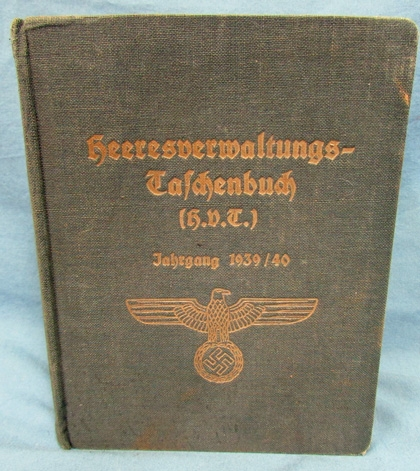 Stewarts Military Antiques - - German WWII Army Regulations, 1939/40