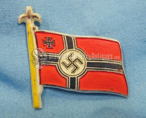 Stewarts Military Antiques - - German WWII, Flag Tinnie